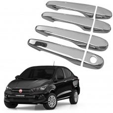 Capa Aplique Maçaneta Cromada Fiat Cronos