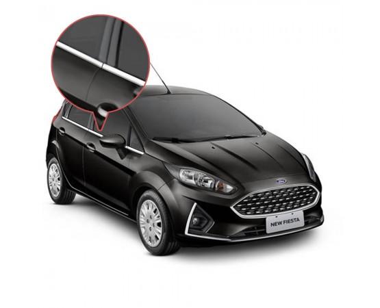 Friso Janela Pestana Cromado Ford New Fiesta
