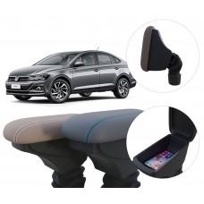 Apoio de Braço Volkswagen Virtus com coifa e porta-objetos
