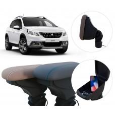 Apoio de Braço Peugeot 2008 com USB coifa e porta-objetos