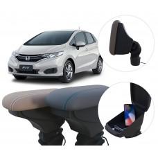 Apoio de Braço Honda Fit com USB coifa e porta-objetos