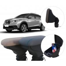 Apoio de Braço Nissan Kicks com USB coifa e porta-objetos