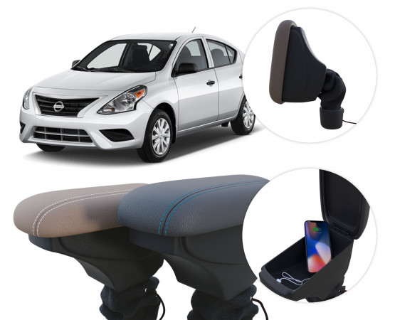 Apoio de Braço Nissan Versa (GPI Automotive) por alfabetoauto.com.br