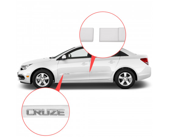 Friso Lateral Chevrolet Cruze Alto Relevo - Sean Car