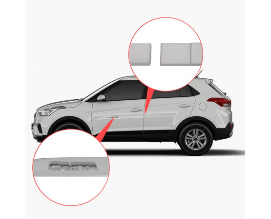 Friso Lateral Hyundai Creta Alto Relevo - Sean Car