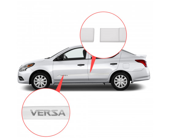 Friso Lateral Nissan Novo Versa Alto Relevo - Sean Car