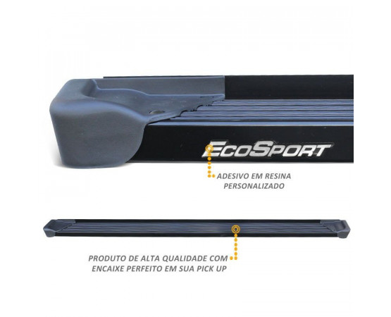 Estribo Lateral Ecosport 2013 a 2019 Aluminio Preto A3