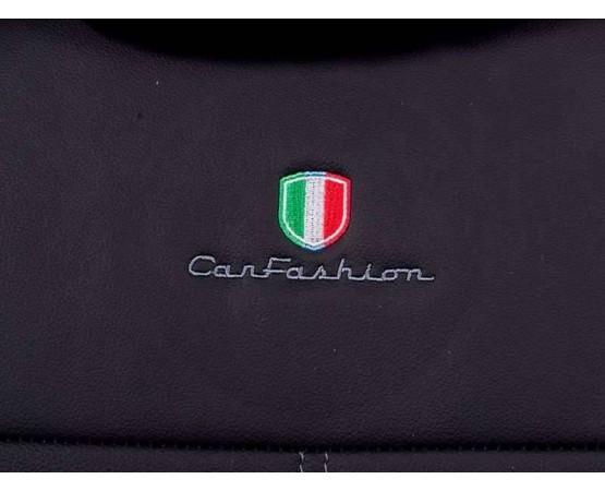 Capa de Banco em Courvin automotivo preto gm cobalt banco traseiro bipartido (CarFashion) por alfabetoauto.com.br