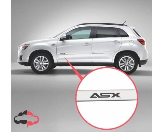 Friso Lateral Personalizado Mitsubishi ASX (Estampa ASX) (Alfabetoauto) por alfabetoauto.com.br