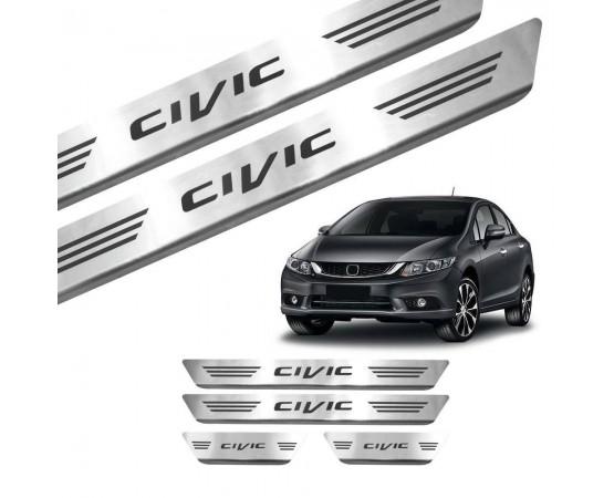Soleira de Aço Inox Honda Civic (GPI Automotive) por alfabetoauto.com.br