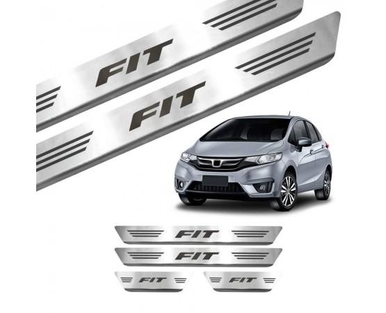 Soleira de Aço Inox Honda Fit (GPI Automotive) por alfabetoauto.com.br