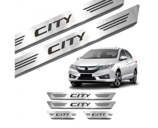 Soleira de Aço Inox Honda City (GPI Automotive) por alfabetoauto.com.br