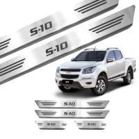 Soleira de Aço Inox Chevrolet S10 Cab Dupla