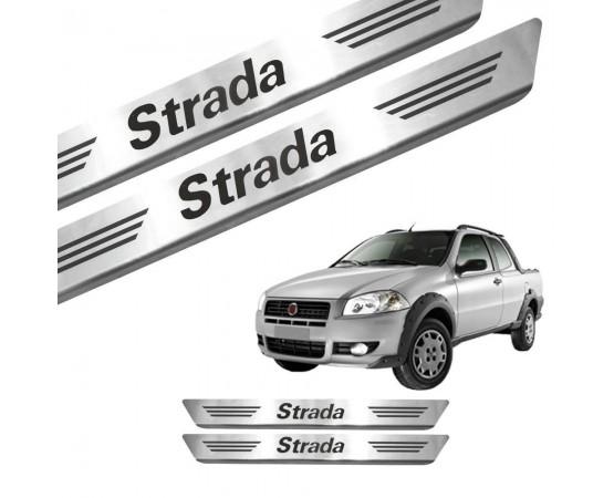 Soleira de Aço Inox Fiat Strada CS (GPI Automotive) por alfabetoauto.com.br