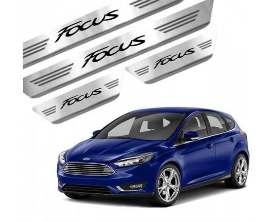 Soleira de Aço Inox Ford Focus (GPI Automotive) por alfabetoauto.com.br