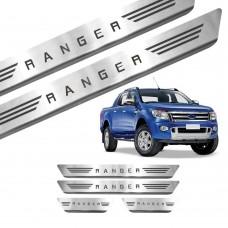 Soleira de Aço Inox Ford Ranger Cab Dupla