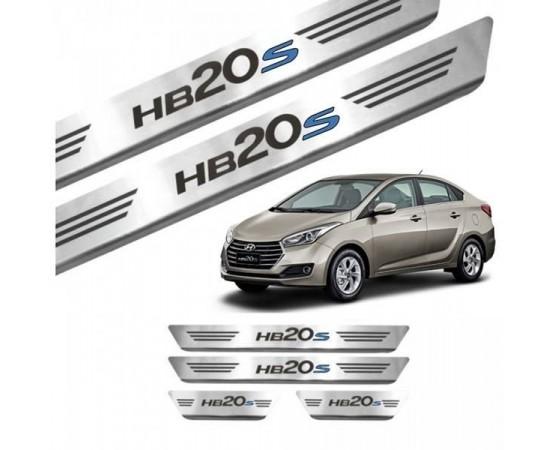 Soleira de Aço Inox Hyundai HB20S (GPI Automotive) por alfabetoauto.com.br