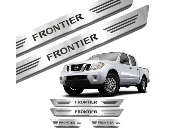 Soleira de Aço Inox Nissan Frontier (GPI Automotive) por alfabetoauto.com.br