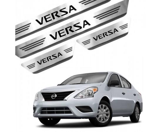 Soleira de Aço Inox Nissan Versa (GPI Automotive) por alfabetoauto.com.br