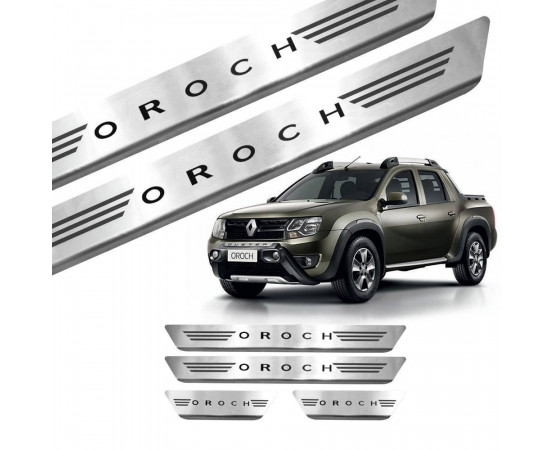 Soleira de Aço Inox Renault Oroch (GPI Automotive) por alfabetoauto.com.br