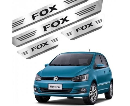 Soleira de Aço Inox Volkswagen Fox 4P (GPI Automotive) por alfabetoauto.com.br