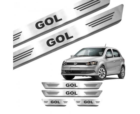 Soleira de Aço Inox Volkswagen Gol 4P (GPI Automotive) por alfabetoauto.com.br