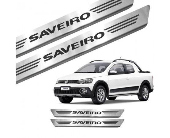 Soleira de Aço Inox Volkswagen Saveiro (GPI Automotive) por alfabetoauto.com.br