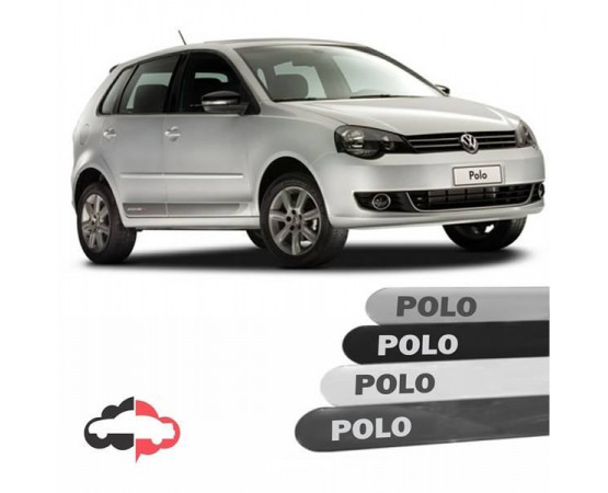 Friso Lateral Personalizado Volkswagen Polo (Alfabetoauto) por alfabetoauto.com.br
