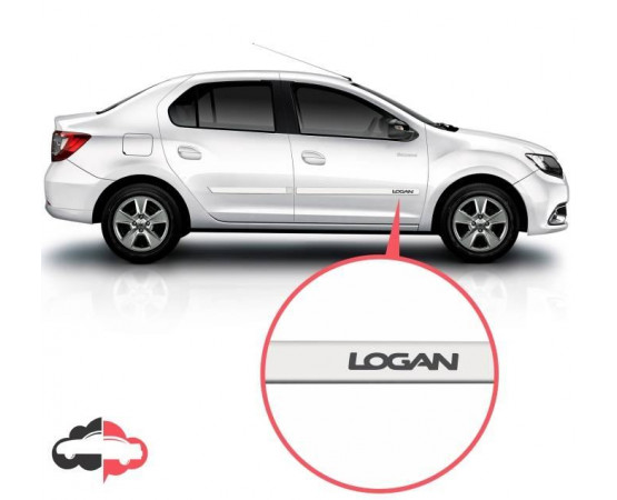 Friso Lateral Personalizado Renault Logan (Alfabetoauto) por alfabetoauto.com.br