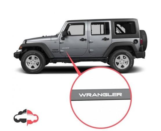 Friso Lateral Personalizado Jeep Wrangler (Alfabetoauto) por alfabetoauto.com.br