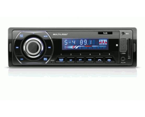 Radio Automotivo Talk C/ Bluetooth Multilaser - P3214 (MULTILASER) por alfabetoauto.com.br
