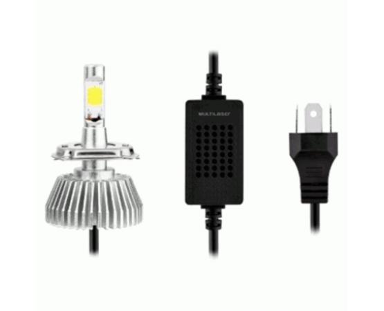 Lampadas Automotiva Multilaser Super Led H7 12V 30W 6200K - AU826 (MULTILASER) por alfabetoauto.com.br