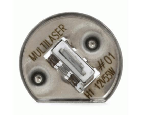 Lâmpada Automotiva Multilaser H1 - 12V - 55 Watts Comum - AU801 (MULTILASER) por alfabetoauto.com.br