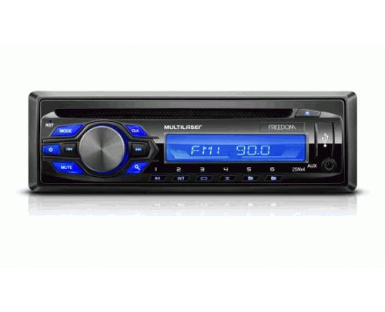 Radio Cd-player Freedom Mp3 Multilaser - P3239 (MULTILASER) por alfabetoauto.com.br