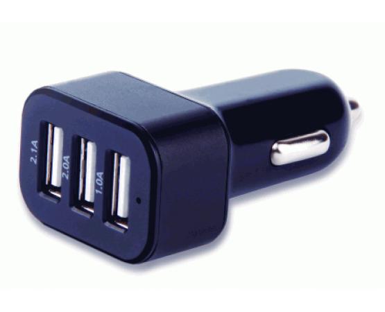 Carregador Automotivo Multilaser com 3 Saídas USB 3.1A mini/micro/iphone 4/5 CB074