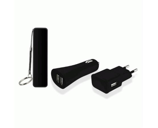 Kit 3 em 1 Power Bank com Cabo Micro USB e Carregador Automotivo/Parede Multilaser CB081