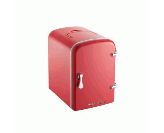 Mini Geladeira Retrô Portátil - 4 Litros - Bivolt - Carregador Veicular 12v - Multilaser Tv007 (MULTILASER) por alfabetoauto.com.br