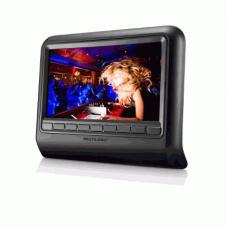 """DVD Player Automotivo Multilaser """"9""""Pol. para Encosto de Cabeça Preto - AU705"""