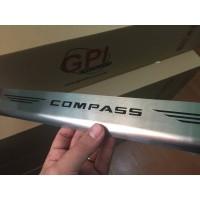 Soleira de Aço Inox Jeep Compass