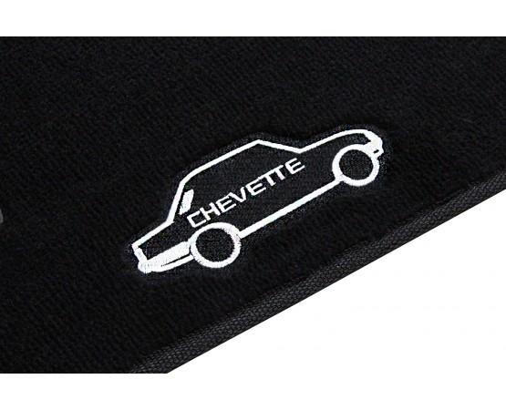 Tapete Chevrolet Chevette Preto Luxo (Alfabetoauto) por alfabetoauto.com.br