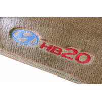 Tapete Hyundai HB20 Caramelo Luxo