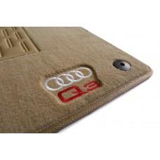 Tapete Audi Q3 Traseiro Inteiriço Bege Luxo