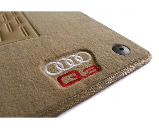 Tapete Audi Q3 Traseiro Inteiriço Bege Luxo (Alfabetoauto) por alfabetoauto.com.br