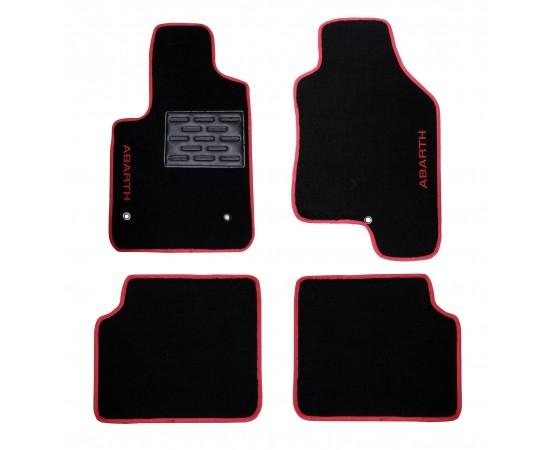 Tapete Fiat 500 Abarth Preto/vermelo Luxo (Alfabetoauto) por alfabetoauto.com.br