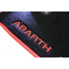 Tapete Fiat 500 Abarth Preto/vermelo Luxo