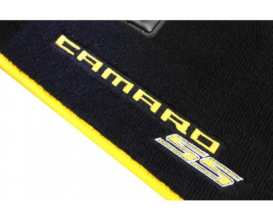 Tapete Chevrolet Camaro SS Preto/amarelo Luxo (Alfabetoauto) por alfabetoauto.com.br