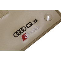 Tapete Audi Q3 Sline Traseiro Inteiriço Bege Borracha