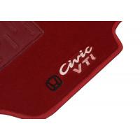 Tapete Honda Civic VTI Vermelho Luxo