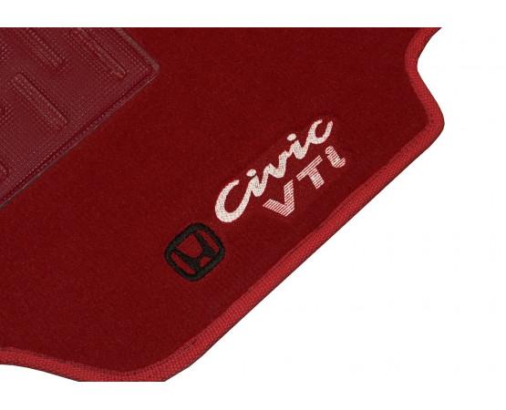 Tapete Honda Civic VTI Vermelho Luxo (Alfabetoauto) por alfabetoauto.com.br