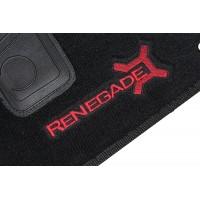 Tapete Jeep Renegade Preto/vermelho Luxo